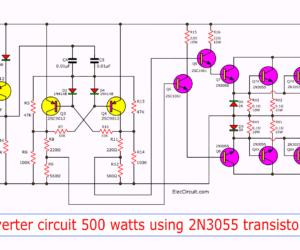 Inverter circuit, 12V to 220V  at 500W