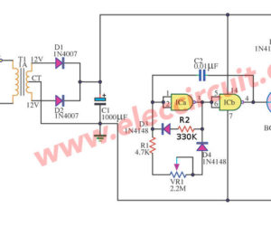 12 volt dc variable speed motor controller circuits using CMOS