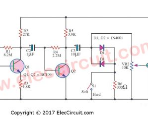 Clipping Amplifier circuit using BC109