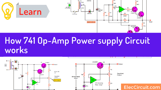 How 741 Op Amp Power supply Circuit work