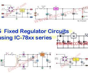 5V,6V,9V,10V,12V,15V,18V,24V-1A Regulators using 78xx series
