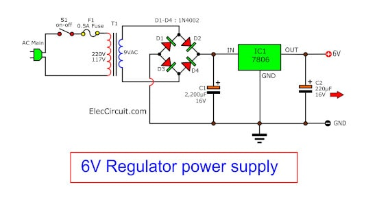 7806 dc regulator 6V