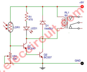 Simple Light Activated Relay Circuit