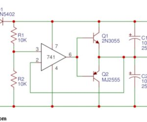 Power Supply Splitter circuit using op-amp