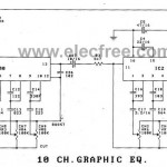 10 Channel graphic equalizer circuit using LA3600