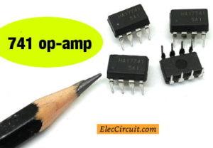 741 op-amp DIP 8 pins