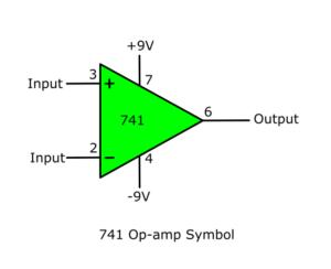 741 op-amp symbol