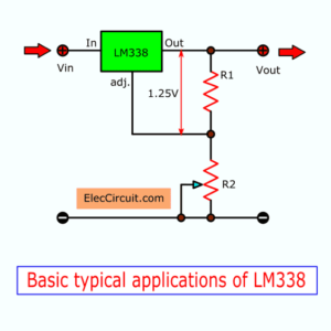 Basic typical applications of LM338