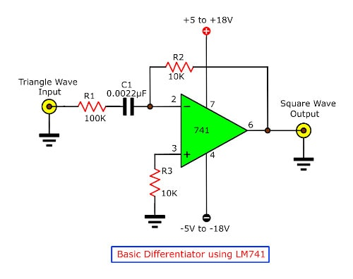 Basic Differentiator by LM741