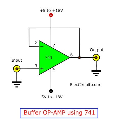 Learn 741 op-amp circuits basic with example | ElecCircuit com
