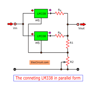 Connecting LM338 in parallel form