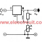 High current adjustable power supply circuit, 0-30V 20A using LM338