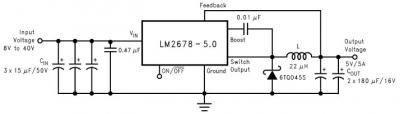 LM2678 DC to DC step down voltage regulator.
