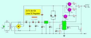 2V-7V, 6A-8A Linear Regulator using LM723