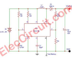 2.4V to 9V Step-Up Voltage Regulator using RC4193