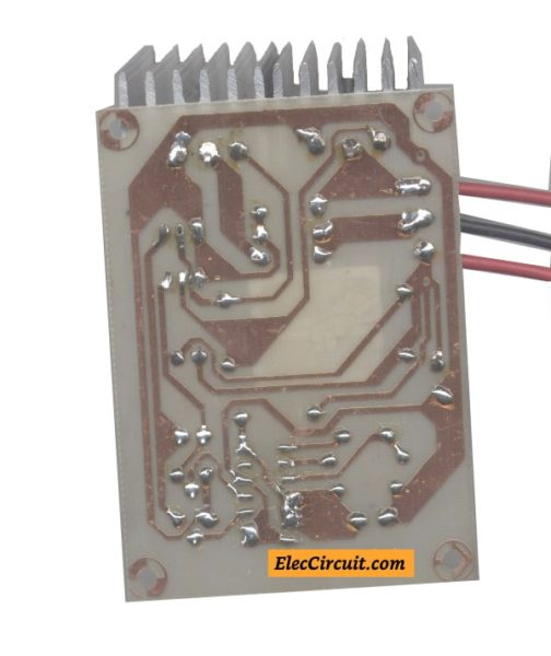 Soldering devices on copper layout
