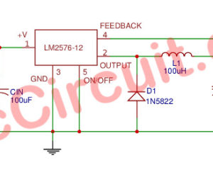 12V 3A Switching Regulator circuit  using LM2576-12