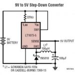 5VDC Switching regulator from 9V battery by LT1073-5