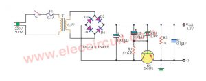 Easy Power Supply Regulator 3.3V 1A with PNP Transistor