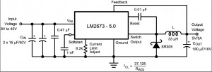 LM2673 -5V 3A Switching Voltage Regulator