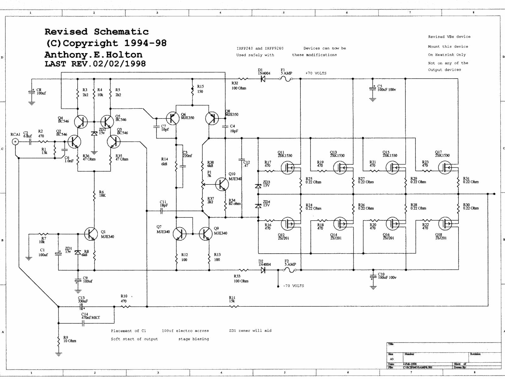 high power mosfet amplifier circuit ideas