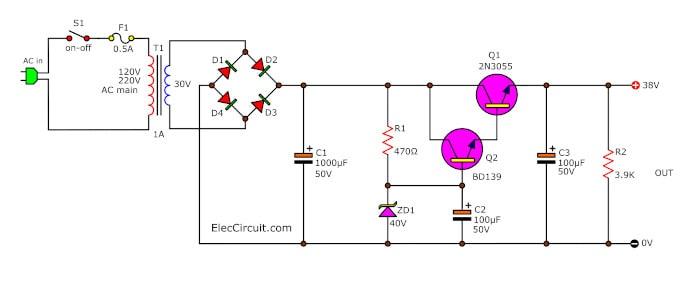 38v-regulated-dc-power-supply
