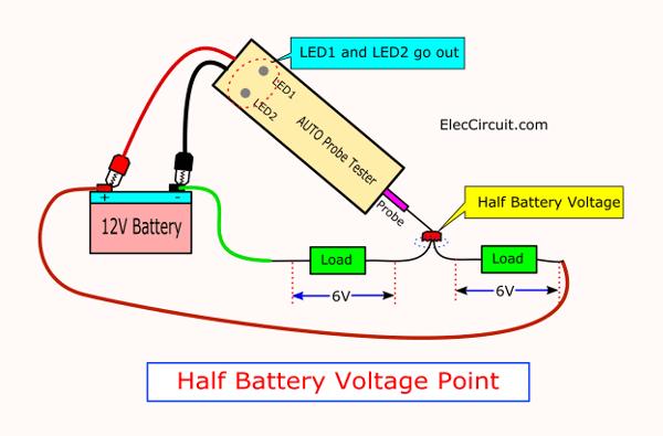 Half Battery Voltage testing