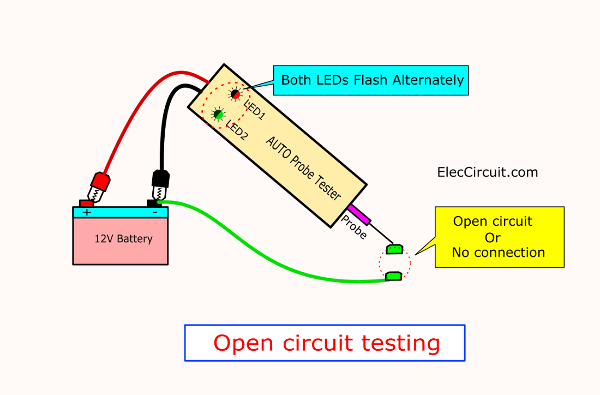 Open circuit connecting test