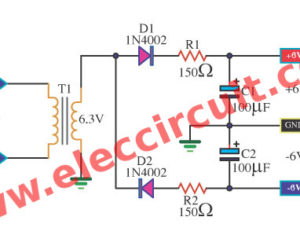 Simple Dual 6V Power Supply circuit