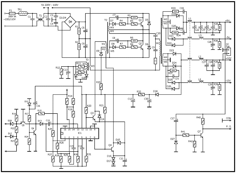 5 PC power supply circuit for you | ElecCircuit.com