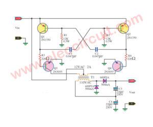 12V to 300V DC-DC converter circuit