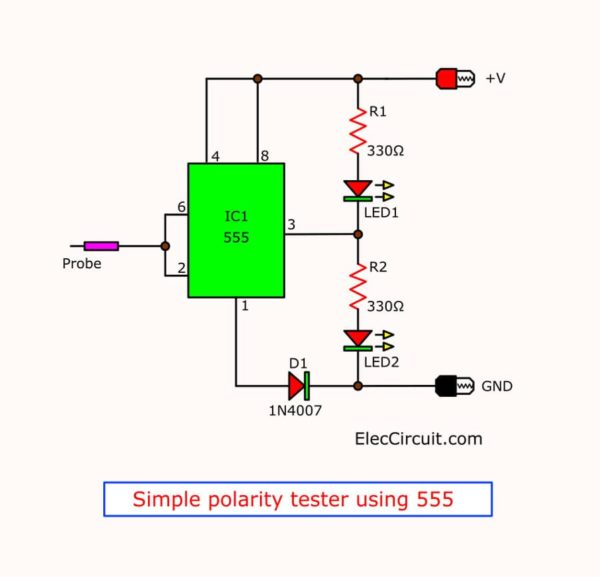 simple polarity tester circuit