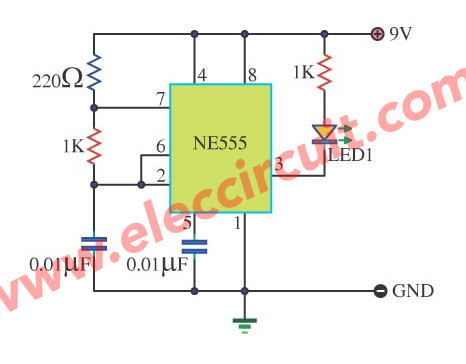LED Tone Generator by IC LM555
