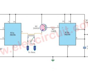 Car Burglar Alarm Timer Delay Using NE556