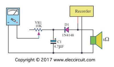 Analog VU meter  schematics