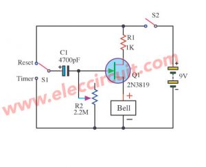 Basic Timer using FET 2N3819