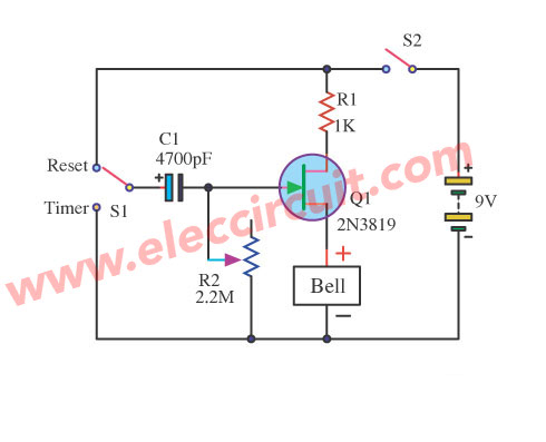 jfet delay time circuits using 2n3819 elec circuit com. Black Bedroom Furniture Sets. Home Design Ideas