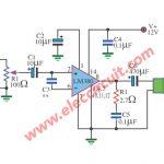 Mini audio amplifier circuit