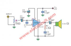 Small IC Amplifier 2 watt using LM380