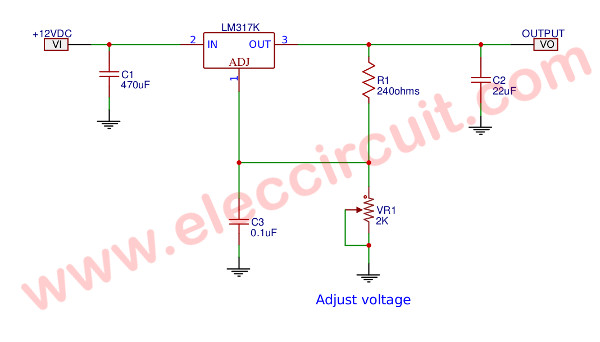 my first variable power supply using lm317 eleccircuit
