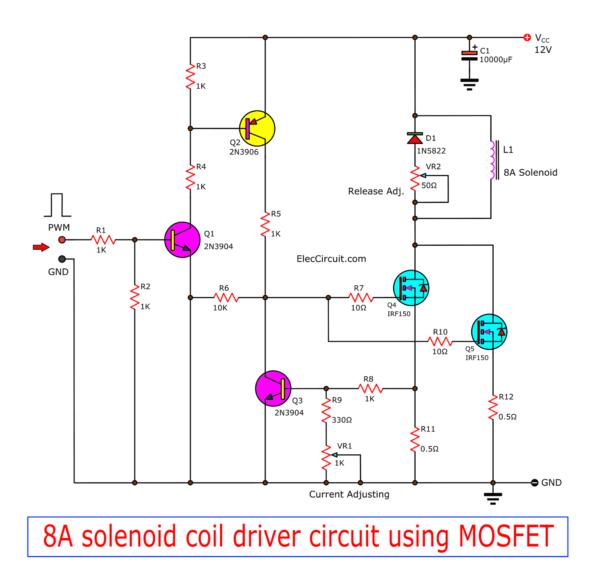 solenoid coil driver circuit