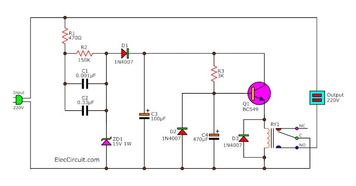 Simple monitor turn on delay circuit