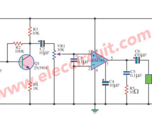 Pre mic audio amplifier with ic LM386