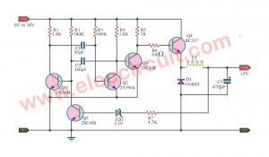 Step down voltage converter 5V using transistor BC337