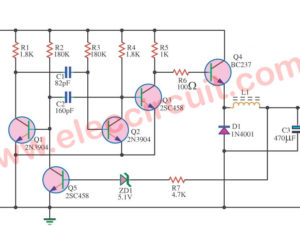 5V switching regulator circuit using transistor BC337