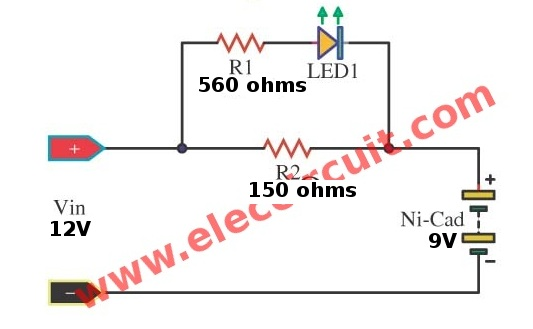 Charger Circuit Diagram On 12 Volt Trickle Battery Charger Schematic