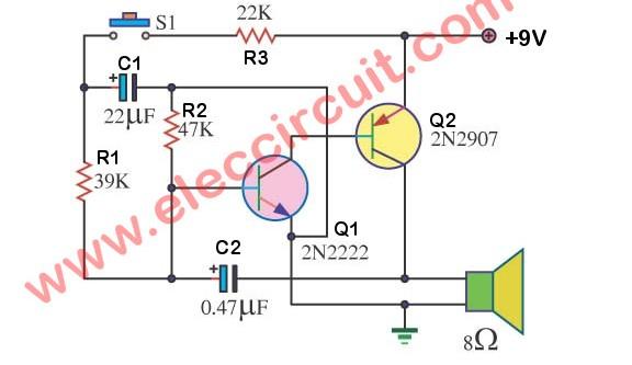 electronic siren circuits using transistors electronic simple circuit using transistor bc548 simple circuits with transistor