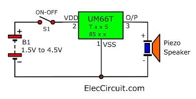 The Basic UM66Txx Circuit Diagram