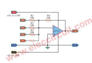 FET Op Amp Microphone Mixer using LF353