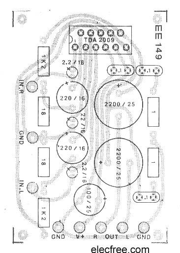 tda2009 amplifier stereo 10w